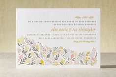 The Grainfield Letterpress Wedding Invitations by ... | Minted
