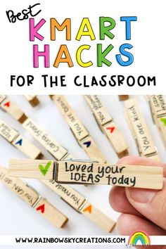 Discover our favourite classroom hacks we created using everyday items at Kmart. So many great ideas! Classroom Hacks, Rainbow Sky, Australian Curriculum, New Teachers, Getting Organized, Teaching Resources, Love You, Te Amo, Je T'aime