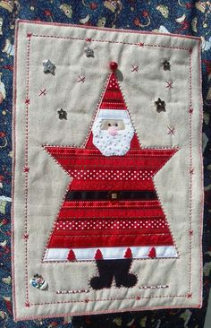Sunburnt Quilts - Ribbon Santa