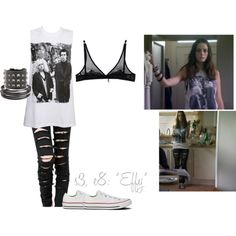 03x08 - Effy Stonem's First Outfit by breakfast-at-tiffanysss on Polyvore featuring Topshop, Blumarine, Converse, Valentino, Tateossian and Effy Jewelry