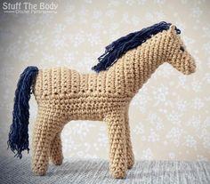 Curly Pony amigurumi crochet pattern Horse by StuffTheBody on Etsy, $5.00