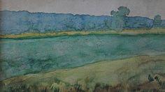 Rivière en Bresse. Aquarelle de Pierre Puvis de Chavannes