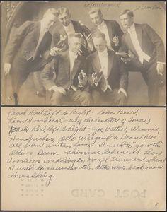 Vintage Photo Postcard Men Smoking w Beer Bottles in Suits