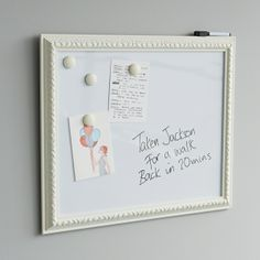 framed whiteboard
