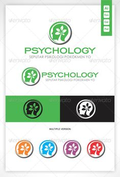Head Tree Psychology Logo by Omar_Ichigo - Resizable Vector EPS, Ai, CDR- vertical and horizontal layout ready- Color customizable- Fully editable- All font Link and Instr