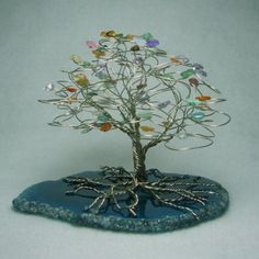 Love these wire and gemstone trees.