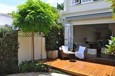 Porch Garden, Garden Fencing, Garden Pool, Garden Trees, Garden Landscaping, Landscaping Ideas, Outdoor Plants, Outdoor Rooms, Outdoor Gardens