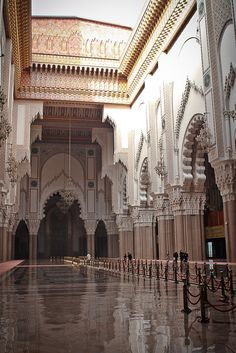 Inside the Hassan II Mosque, Casablanca, Morocco