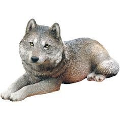Sandicast Original Size Gray Wolf Sculpture