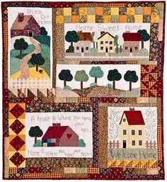 /removed from the net Colchas Quilt, Tree Quilt, Patch Quilt, Applique Quilts, Patchwork Quilting, Quilt Blocks, Cute Quilts, Small Quilts, Mini Quilts