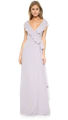 ¡Consigue este tipo de vestido de tubo de Joanna August ahora! Haz clic para ver los detalles. Envíos gratis a toda España. Joanna August Lolo V Neck Ruffle Wrap Dress: Cascading ruffles bring graceful detail to this airy Joanna August maxi dress. Long sashes tie at the waist. Lined. Fabric: Chiffon. 100% polyester. Dry clean. Imported, China. Measurements Length: 65in / 165cm, from shoulder Measurements from size S (vestido de tubo, ajustado, ajustados, entallados, ceñido, ceñidos, band...