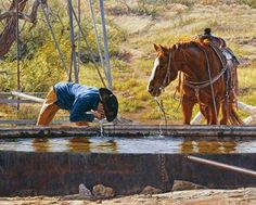 But whoever drinks of the water that I will give him will never be thirsty again. John 4.14 - Cowboys 4 Christ -C4C