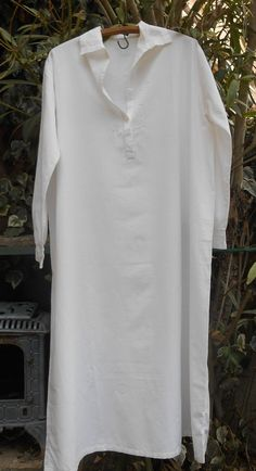 Antique White Nightgown French Victorian Long by SophieLadyDeParis