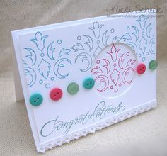 Congratulations card using DeNami stamps