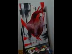Heart time lapse painting