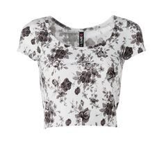 Cropped top Cropped Top, Flower Prints, Floral Tops, Crop Tops, Outfits, Women, Fashion, Moda, Floral Patterns