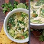 Chicken Avocado Soup. Clean Eating at it's best.