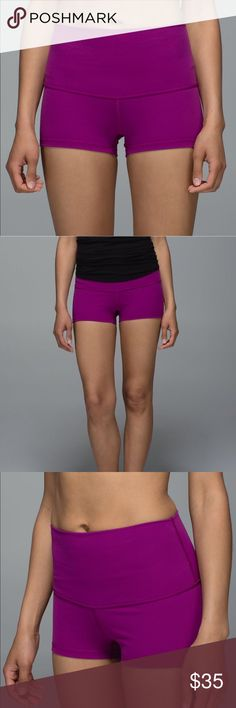 Lululemon Roll Down Boogie Short -size 8 -like new, worn once -waistband can be worn as a high rise or rolled down -perfect for work outs or worn underneath dresses lululemon athletica Shorts