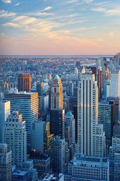 Manhattan In Blue Light  #Manhattan #NYC #walldecor #homedecor #photography #cities