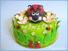 Coccinella fra i fiori / Ladybug with dogwood flowers Cupcake Cakes, Baby Cakes, Cupcake Ideas, Cupcakes, Birthday Parties, Birthday Cakes, 2nd Birthday, Birthday Ideas, Beautiful Cakes