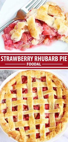 There's nothing more classic than a homemade seasonal fruit pie for dessert, and the combination of strawberry and rhubarb in a flaky, buttery, made-from-scratch crust is always a winner. Tart, tangy, and bursting with juicy flavor, it's so much better than anything bought from the store. Get the recipe now on Foodal. #strawberry #rhubarb #pie #spring