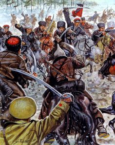 Battle of Orel, Oct. 1919, by Giuseppe Rava.