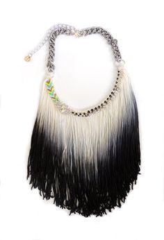 Big unique necklace, original jewelry, Ibiza necklace, fringe necklace, fan fringe jewelry, tie dye necklace, festival jewelry,boho hippie by jewelrylanche. Explore more products on http://jewelrylanche.etsy.com