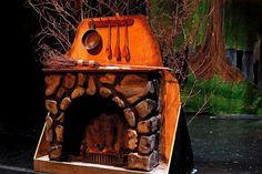 LANCE CARDINAL: INTO THE WOODS - SET DESIGN. Cinderella's fireplace