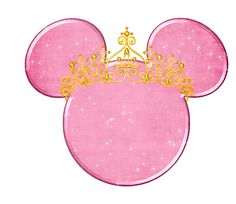cabeza rosa de minnie mouse princesa