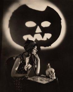 vintage Halloween fortune teller -- Myrna Loy?