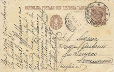 (1932) Cartolina Postale con Risposta Pagata