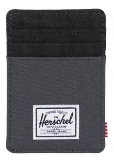 The Herschel Raven+ Wallet Poly Dark Shadow/Black is a vertical card holder with multiple slots and a branded metal currency clip. Herschel Supply Co, Raven, Cool Kids, Wallet, Dark, Ravens, Crows, Purses, Diy Wallet