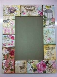 Decoupage Furniture, Decoupage Art, Decoupage Vintage, Creative Crafts, Diy And Crafts, Recycled Decor, Paisley Art, Scrapbook Background, Mirror Painting
