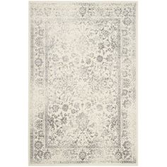 Found it at Wayfair - Reynolds Ivory/Silver Area Rug