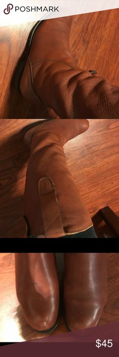 Mix Mooz Maroon Leather Knee/ Calf high boots Beautiful boots in good condition. Some superficial wear and tear and marking a on the toe (see photos) could prob be polished off way to small for me! Miz Mooz Shoes