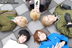 Hetalia: Axis Powers: Japan, England, America, Germany, and Italy Cosplay