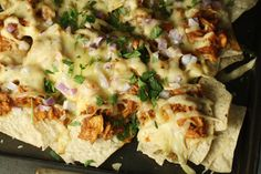 BBQ Chicken Nachos nacho version of CPK bbq ch. chopped salad? could be made that way, anyway.
