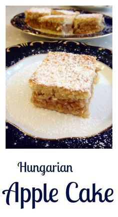 Hungarian apple cake (Almás pite) It is a true Hungarian classic, quite popular in the country. A delicious pie filled with sweetened shredded apple spiced with cinnamon and minutes… Hungarian Cookies, Hungarian Desserts, Hungarian Cake, Hungarian Cuisine, Hungarian Recipes, Hungarian Food, Russian Desserts, Easy To Make Desserts, Just Desserts
