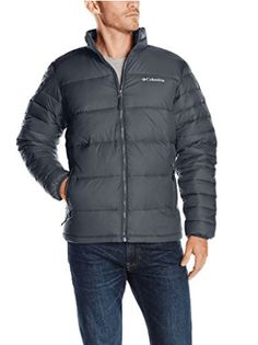 Columbia Men's Frost-Fighter Puffer Jacket Zip-front quilted jacket in water-resistant fabric featuring standing collar and logo at left chest Zipper hand pockets Faux-down insulation Winter Jackets, Business Casual Men, Men Casual, Winter Outfits Men, Elegant Man, Columbia Jacket, Quilted Jacket