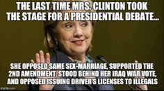 Hillary Clinton Has Flip-Flopped So Many Times. Liar & Hypocrite Hillary Clinton