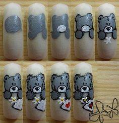 Teddybeertjes op je nagels moet ik zeker eens doen:)