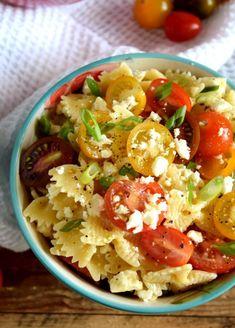 Heirloom Tomato Feta Pasta Salad Recipe on Yummly. @yummly #recipe