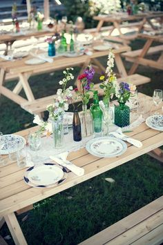 simple table decorations.