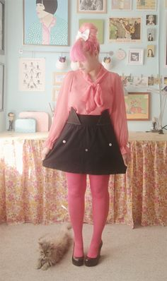 Kate's cat skirt tutorial - oh my meow!!! <3 // http://scathingly-brilliant.blogspot.com/2011/11/diy-cat-skirt.html