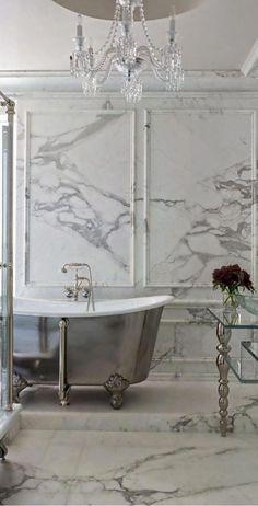 Bathroom Marble Grey Chandeliers New Ideas Modern Bathrooms Interior, Bathroom Design Luxury, Contemporary Bathrooms, Modern Contemporary, Guest Bathrooms, Dream Bathrooms, Beautiful Bathrooms, Luxury Bathrooms, Luxury Kitchens
