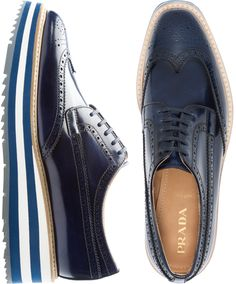 To know more about PRADA LACE UP shoes CUSTOMIZED, visit Sumally, a social network that gathers together all the wanted things in the world! Featuring over other PRADA items too! Sock Shoes, Men's Shoes, 1950 Shoes, Lace Up Shoes, Slip On Shoes, Black Brogues, Best Shoes For Men, Derby Shoes, Prada Shoes