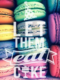 Macaroon wallpaper let them eat cake | Designed By Me! | Pinterest