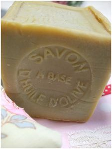 Olive oil soap.  Best soap for dry skin french milled.  I love this.