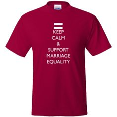 Show your support of marriage equality on Value T-Shirts $16.99 www.inktastic.com