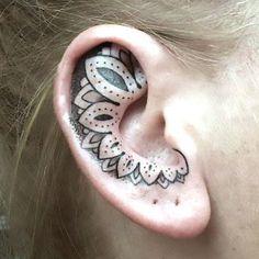Ornate Ear Tattoo Idea